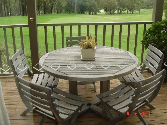 Large back deck to enjoy golf course views