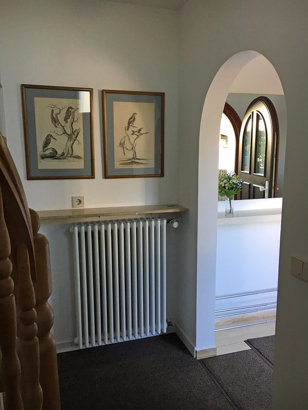 Private entrance hall with cloakroom