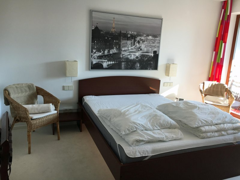 ... double bed and associated ...