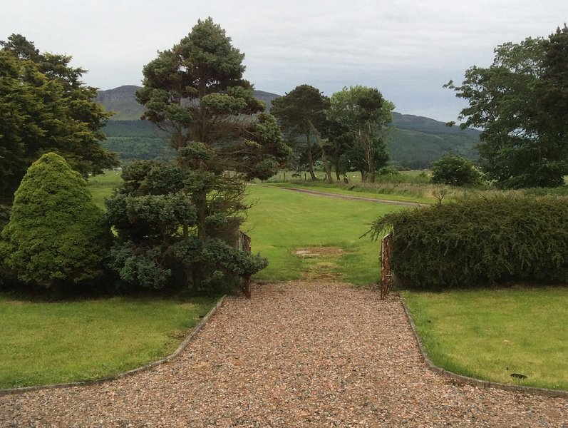 View from garden of Binevenagh. Spacious grounds