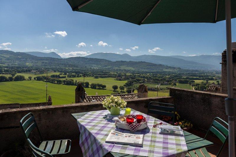 Prachtig uitzicht vanaf het terras van