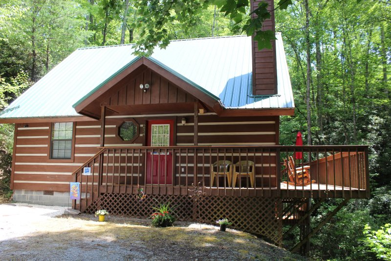 NEW! SECLUDED Chalet Style Cabin with Soaring Ceilings, Jacuzzi, holiday rental in Gatlinburg