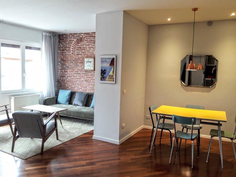 Open plan spacious living area.