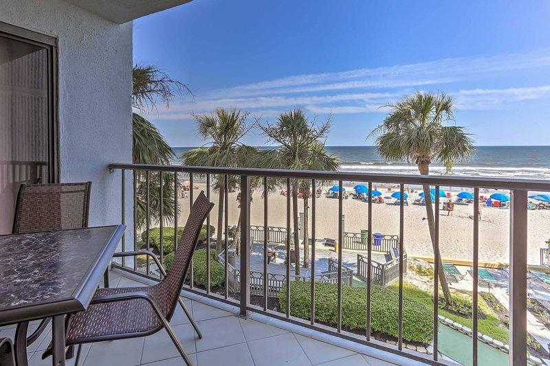 Plan your next South Carolina escape to 'LazSeaDays,' a 2-bedroom, 2-bathroom vacation rental condo in Brigadune Condominiums which sleeps 4 in Myrtle Beach.