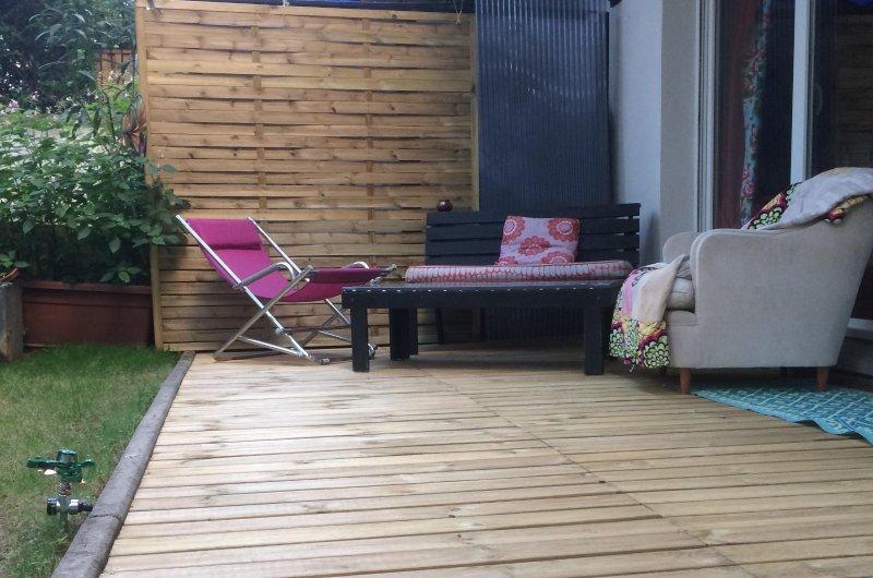 terrasse avec plancha