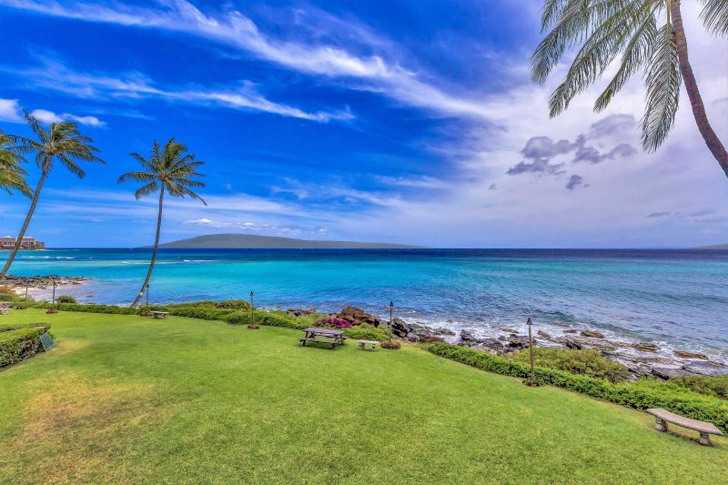 This is your view from your condo to the island of Lanai.