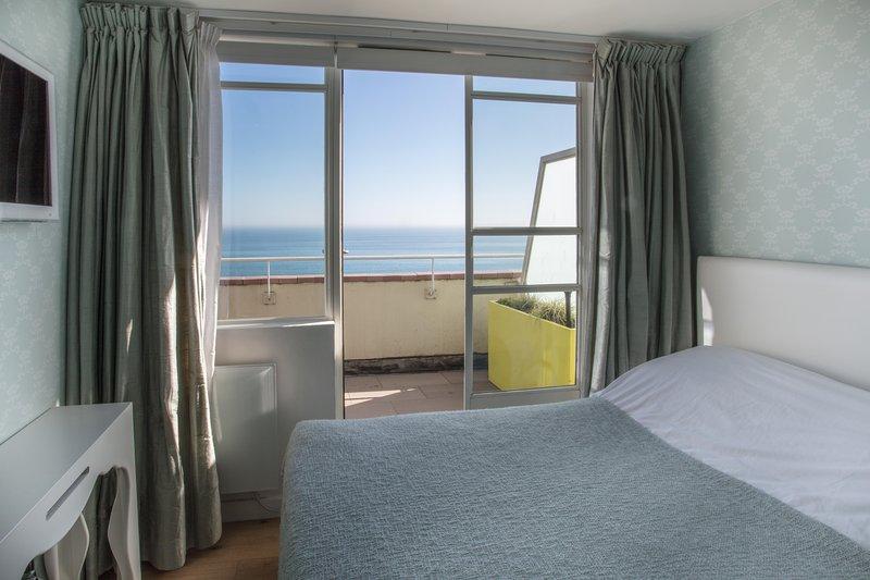 Vistas al mar desde el dormitorio
