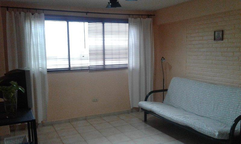 -Canapé-lit dans le salon.