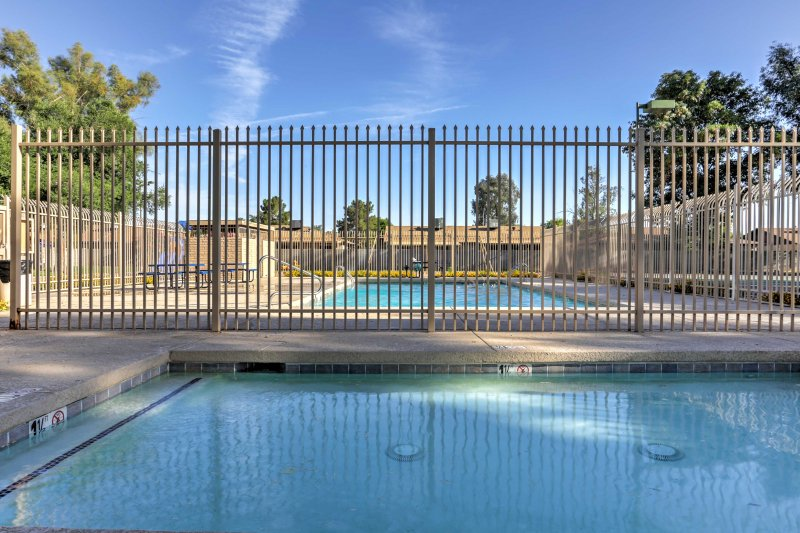 Take a dip in the pool to cool off from the desert heat.