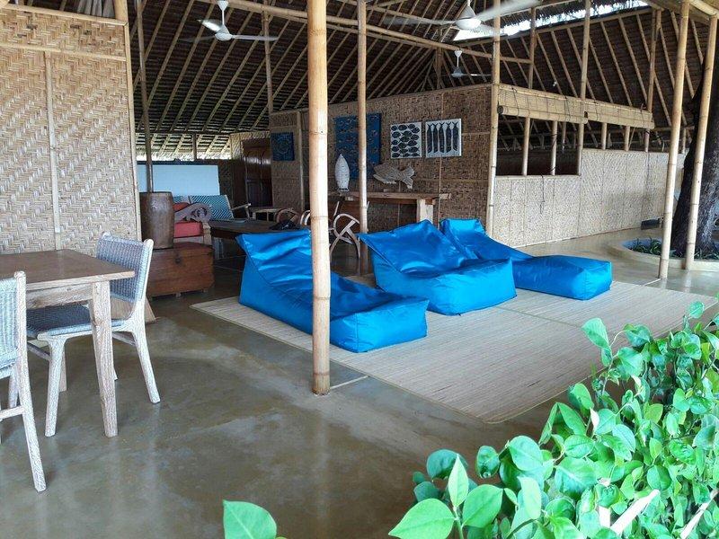 Relaxing patio area