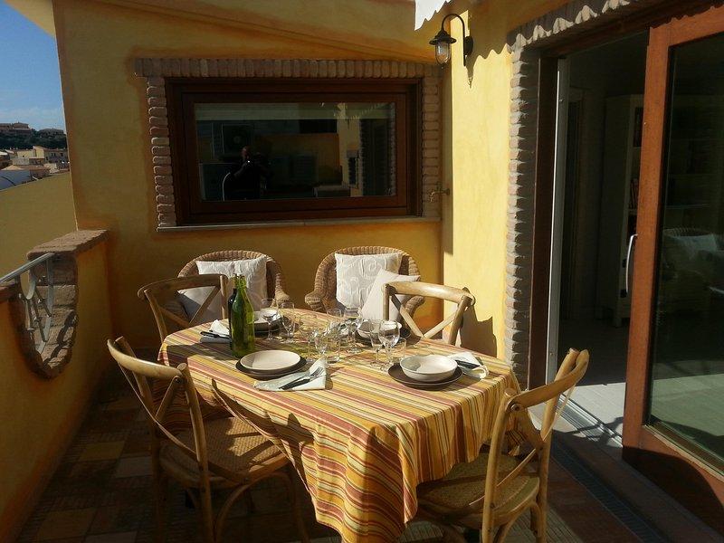 Apparatanento con veranda  VISTA MARE  Anda & Torra, location de vacances à Castelsardo