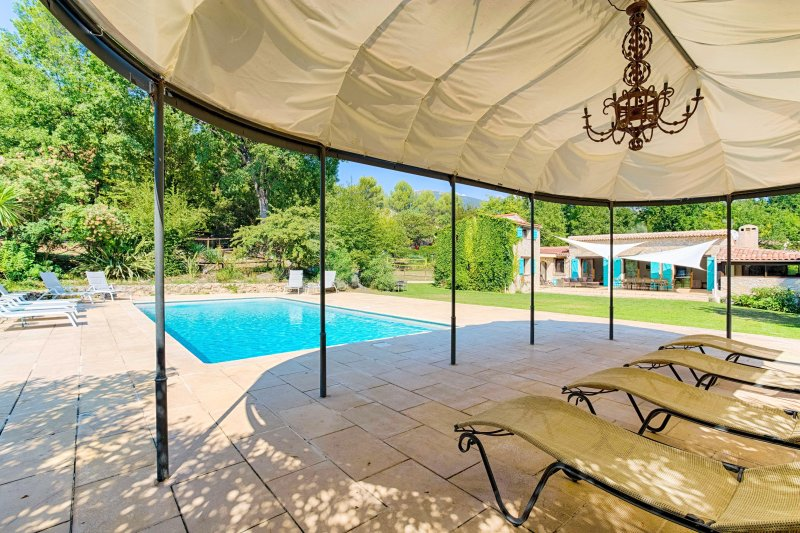 Charming villa in a quiet area: heated swimming pool, sauna, ideal for families, casa vacanza a Roquefort les Pins