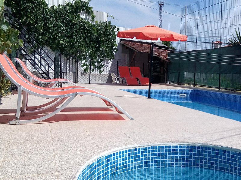 Outdoor pool shared with other clients