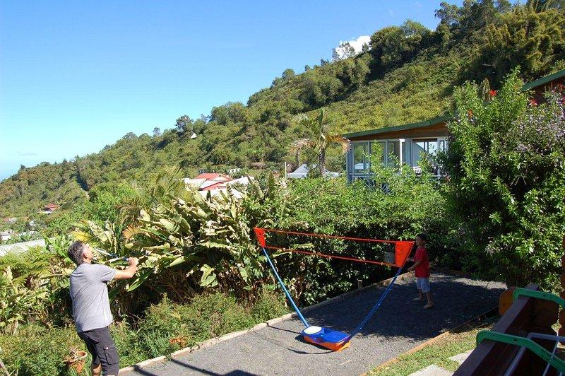 Terrain de pétanque/badminton