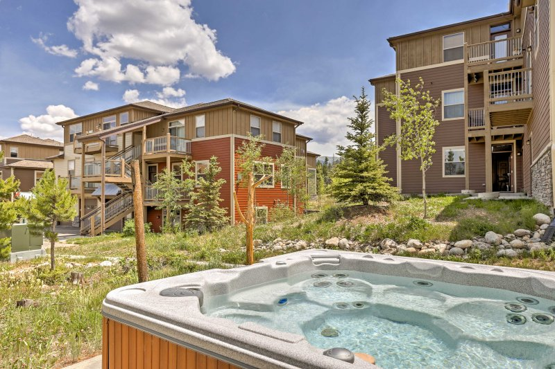 Enjoy a soothing soak in the hot tub after a long hike or day on the slopes.
