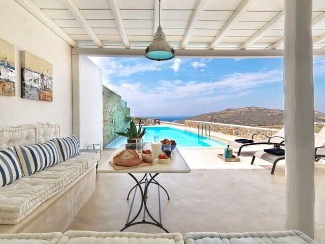 Villa Mare e Montagna , Lia , Mykonos, alquiler vacacional en Ano Mera
