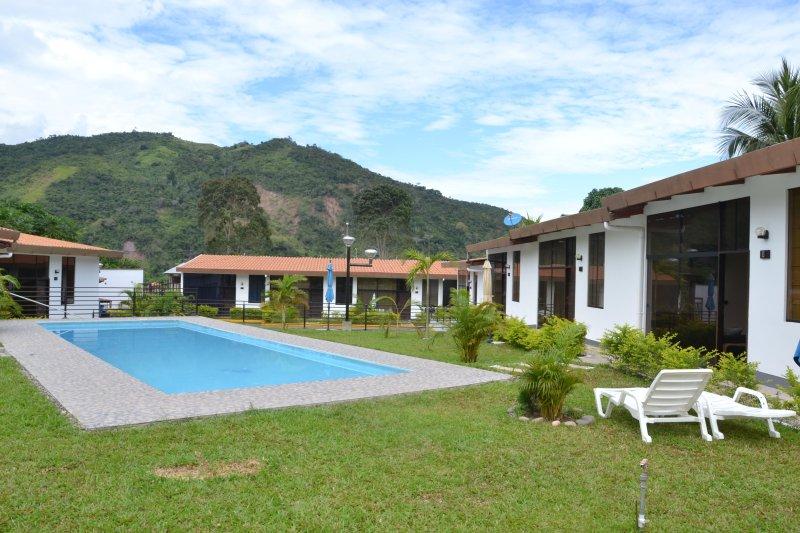 Pool area and outside Peruvian Jungle Resort