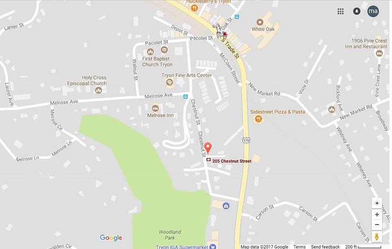 Mapa de Tryon centro: A poca distancia de todo ...