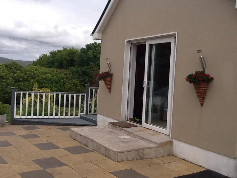 Studio side entrance, directly opposite the terrace