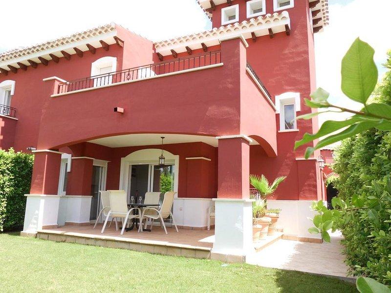 Villa front line golf - south-west facing, alquiler vacacional en Torre-Pacheco