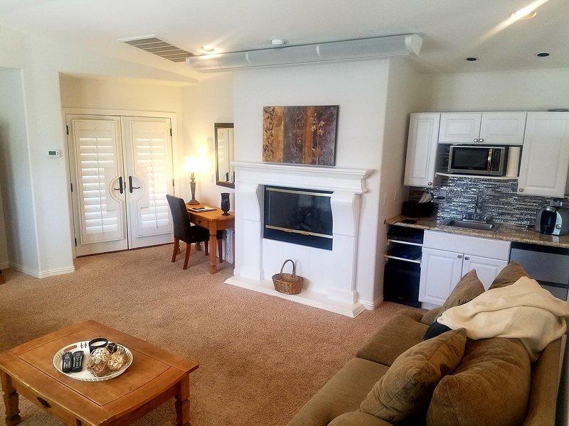 Living Area/Kitchenette/Office area