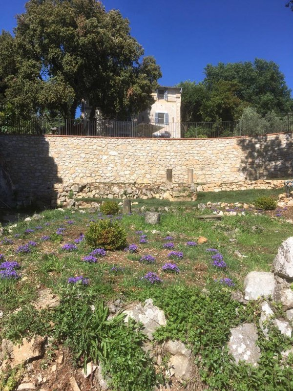Newly Constructed Wall with Garden