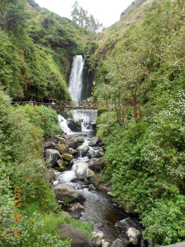 Pequche Waterfalls, beautiful walking path to falls