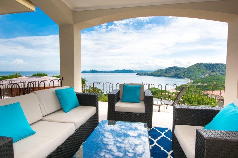 Comfortable seating with endless views