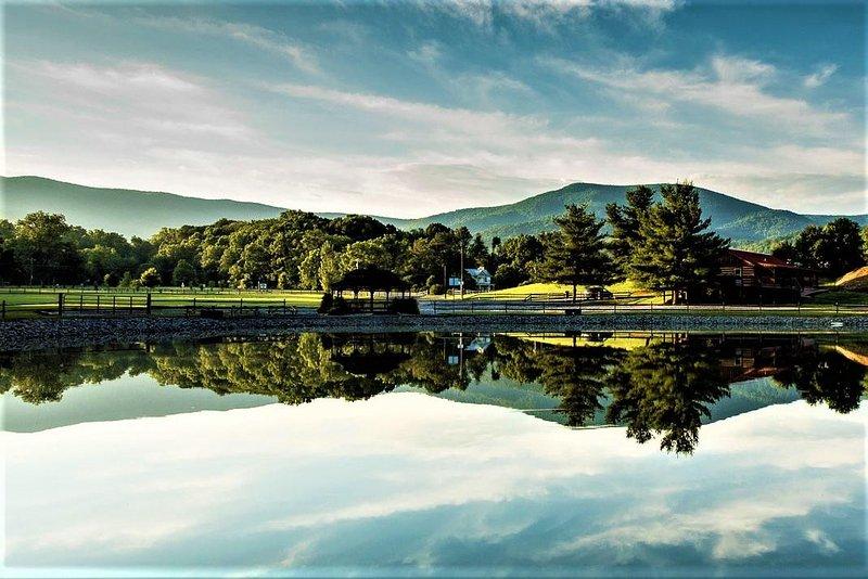 lago de pesca privada a través de la Mare Casa.