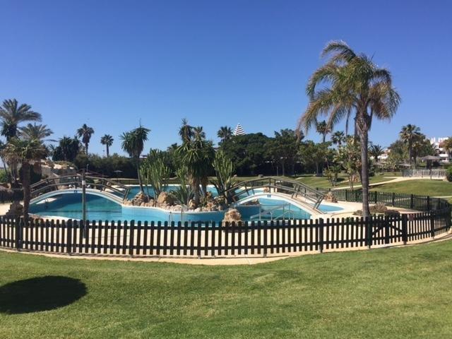 Community pool, behind a children´s pool
