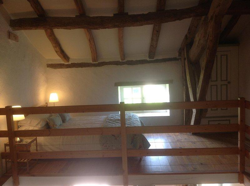 Double bed on large open Mezzanine