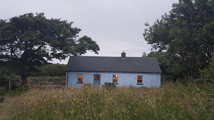 Cottage from the front in our field