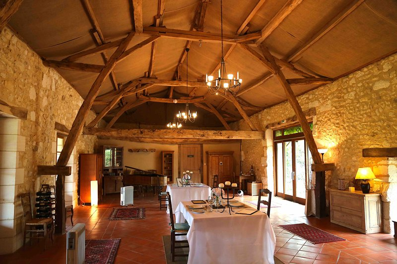 Dinner in the converted barn