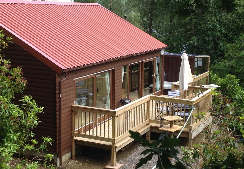 Look out into the woodland from the decking and watch the wildlife