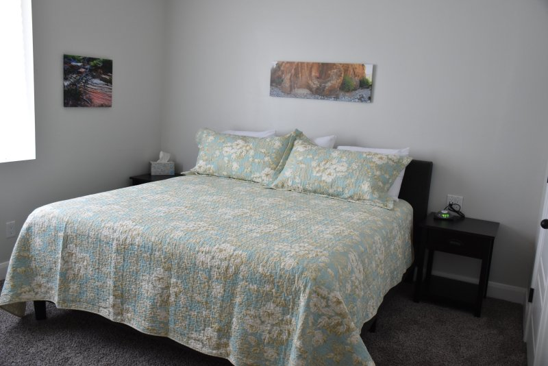 Each bedroom has a new pillow top king mattress plus a twin day bed