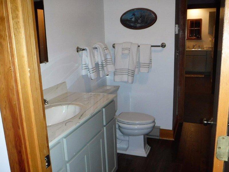 onderste verdieping badkamer met een inloopdouche