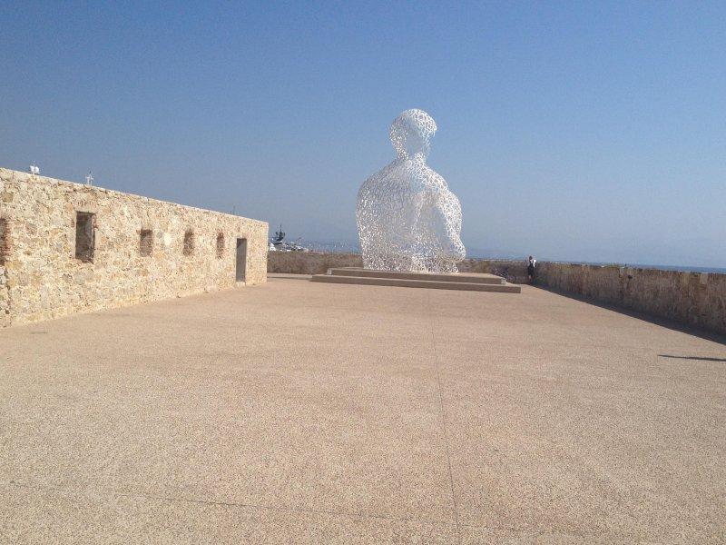 Escultura em Antibes 20 minutos.