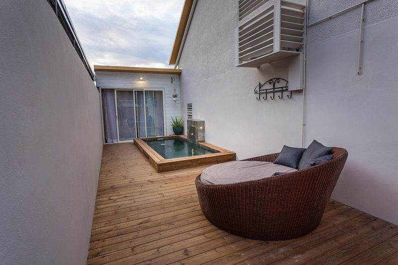 tillgång lägenhet Piscinelle och utomhus säng
