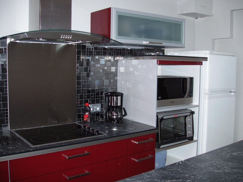 the new and functional kitchen
