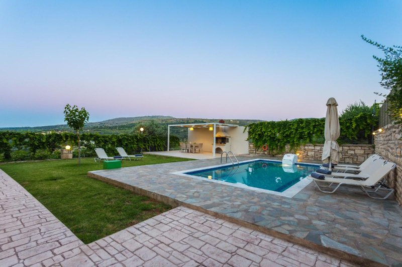 Villa Nefeli has a 25 m2 private swimming pool, 0.30-1.35 meters deep, for you to enjoy!