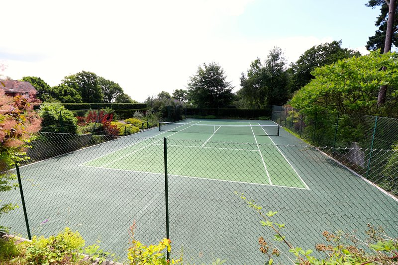 Shared use of tennis court  Bring your own rackets and balls please