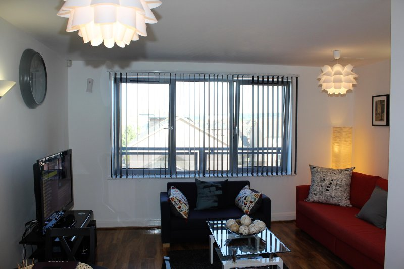 Its new furnished to taste one bed apartment that can accommodate five guest comfortably.