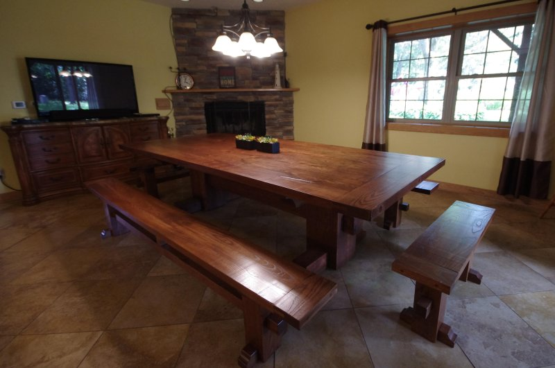 1st floor - Dining room with amazing table that sits 16+