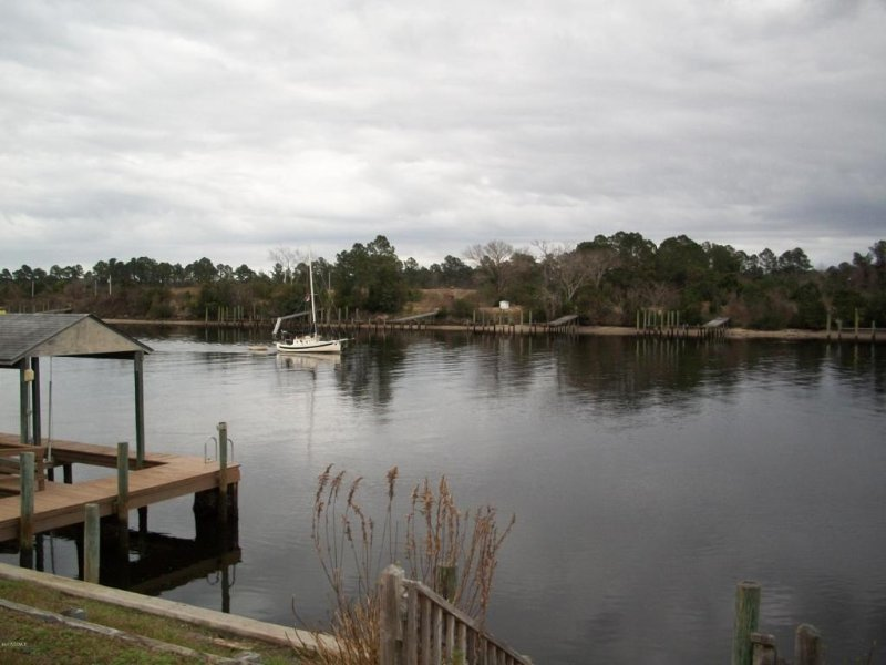 Intercoastal waterway with view of boat lift