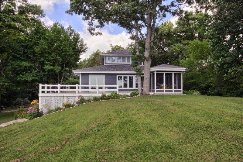 House set against the quaint shores of Lake Erie