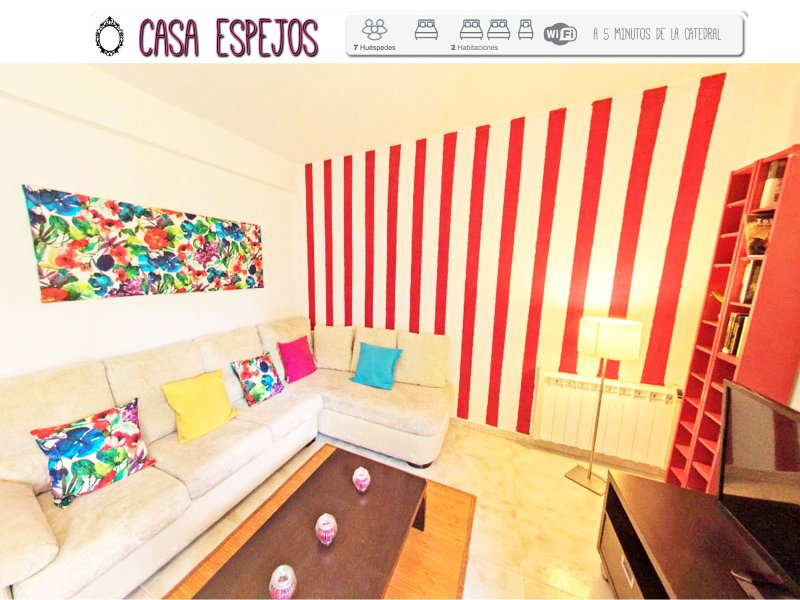 Casa Espejos, cerca catedral y hasta 7 personas., holiday rental in Arges