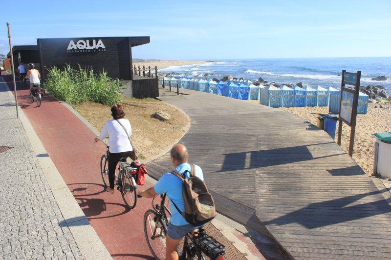 Ciclo de pista a lo largo de las playas