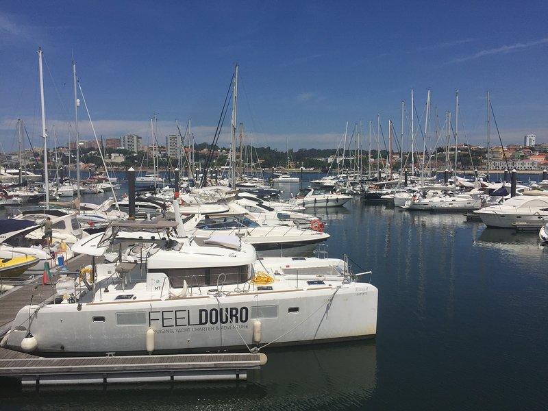 En el río, Douro Marina se encuentra a 20 minutos a pie desde el apartamento