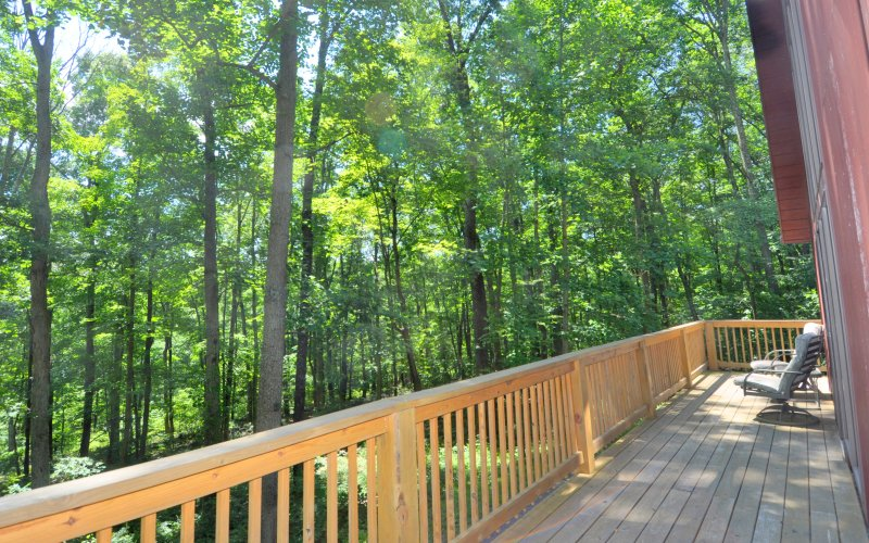 Inhale the mountain air, and exhale worries away. Bring your yoga mat for stretching on the deck!