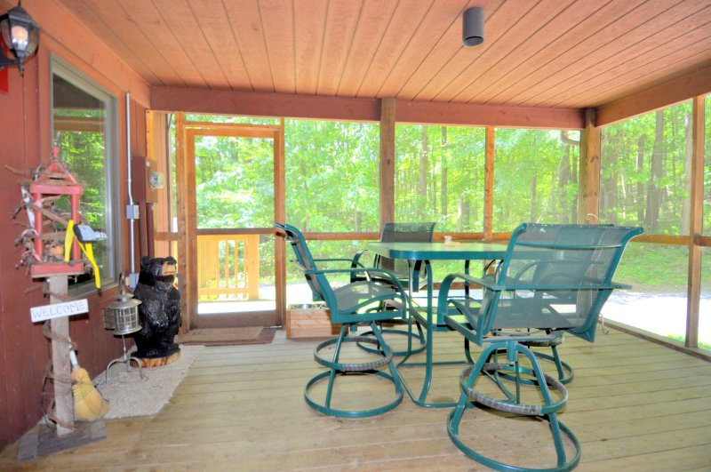 Savor your morning coffee on the screen porch.
